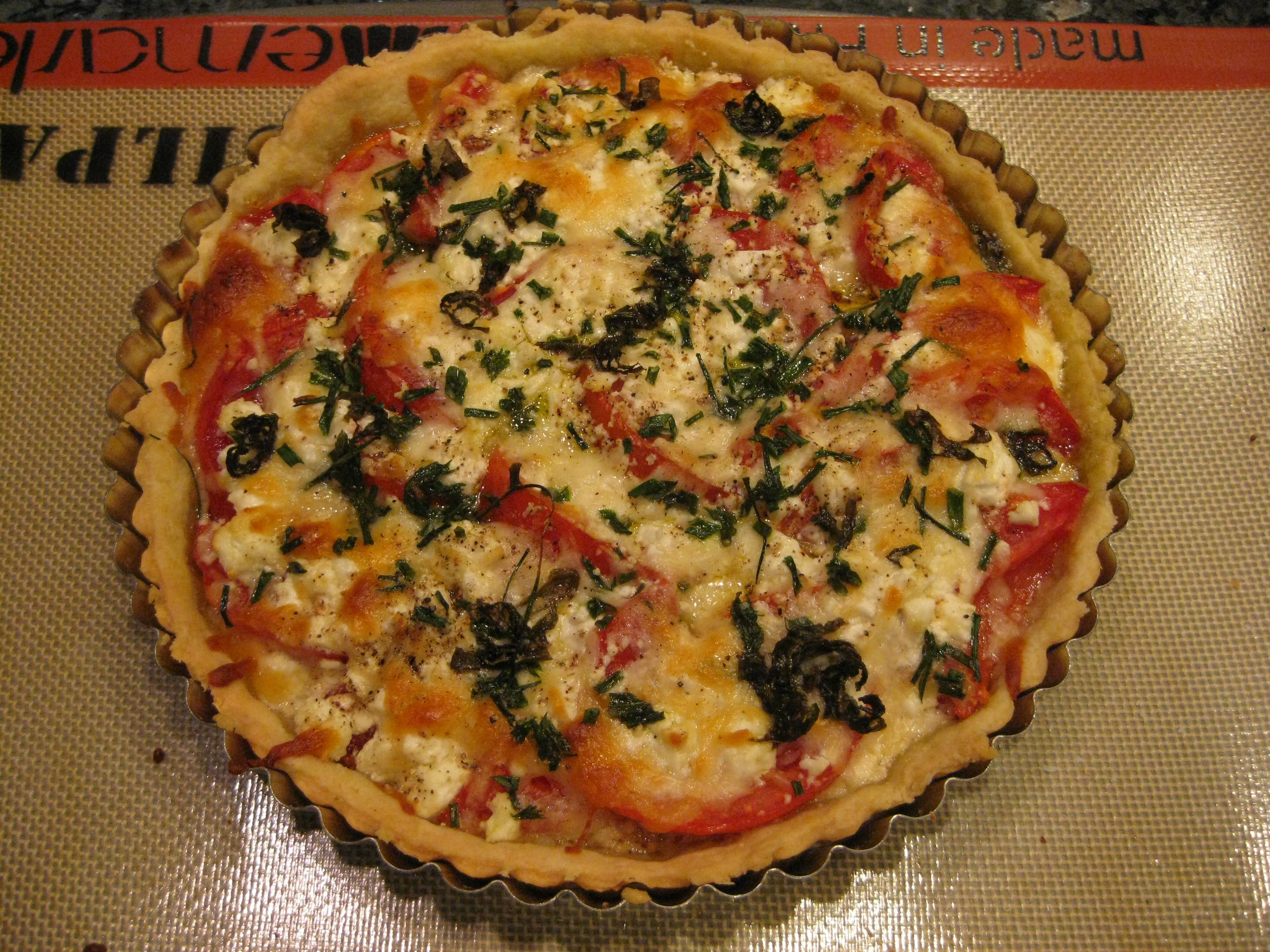 French Tomato Tart Recipe — Dishmaps