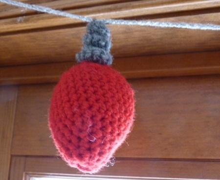 Crochet Christmas Bulb