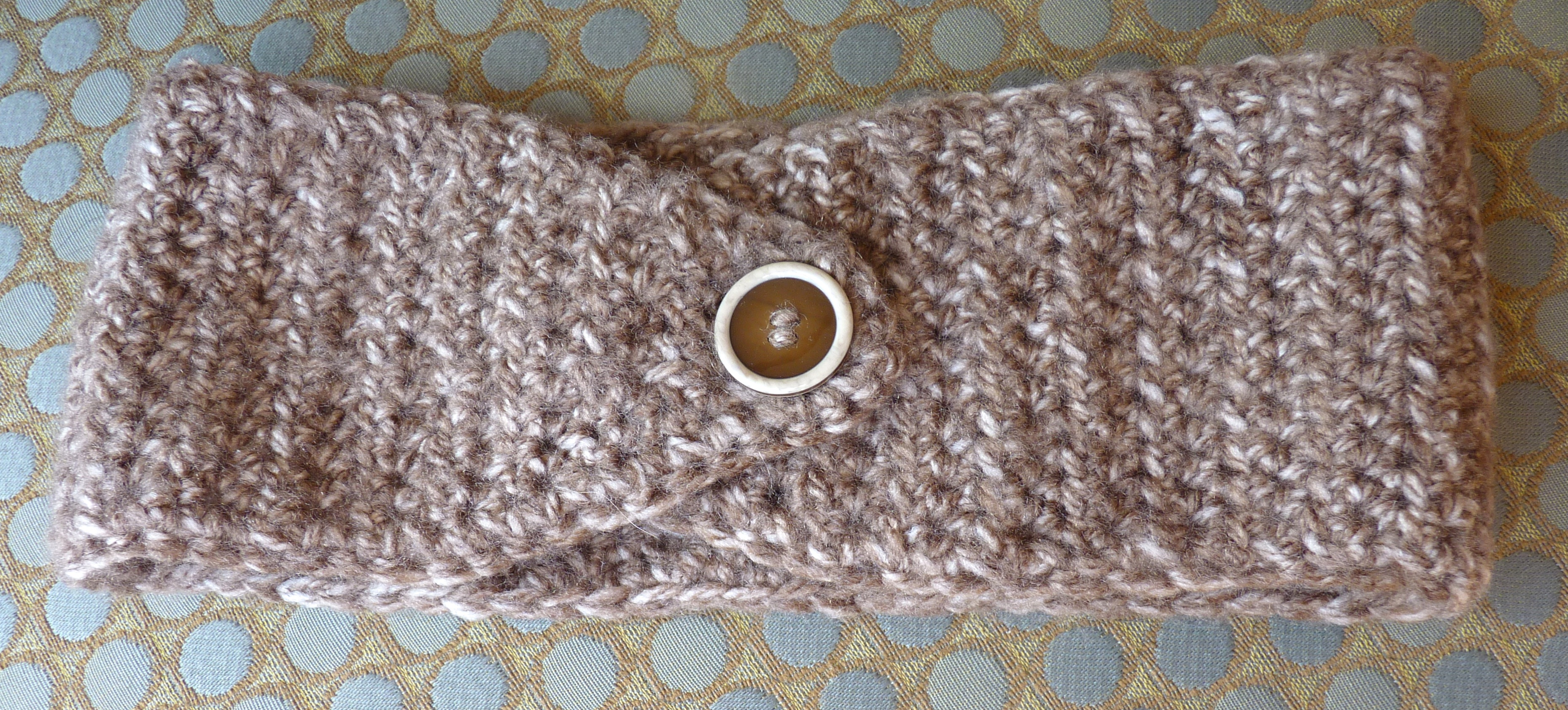 Free Crochet Ear Warmer Pattern With Button Closure Simple Design Ideas