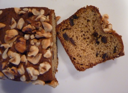 hazlenut quick bread